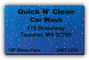 Quick N' Clean Wash Club Card